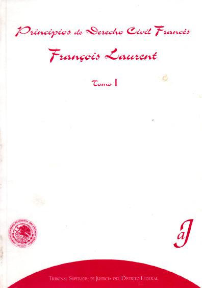 Principios de derecho civil francés, t. I