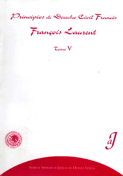 Principios de derecho civil francés, t. V