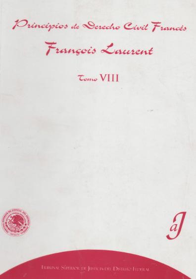 Principios de derecho civil francés, t. VIII