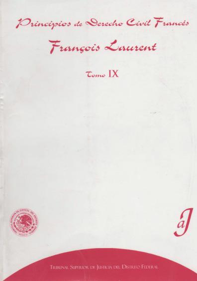 Principios de derecho civil francés, t. IX