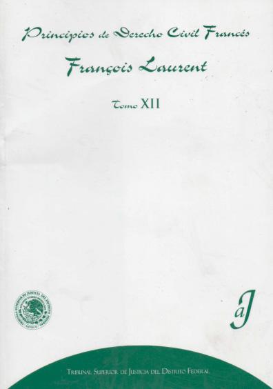 Principios de derecho civil francés, t. XII