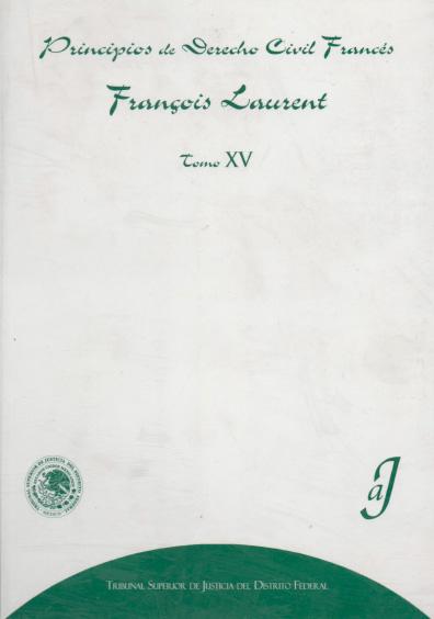 Principios de derecho civil francés, t. XV