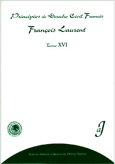 Principios de derecho civil francés, t. XVI