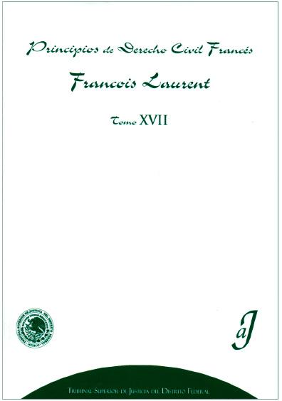 Principios de derecho civil francés, t. XVII