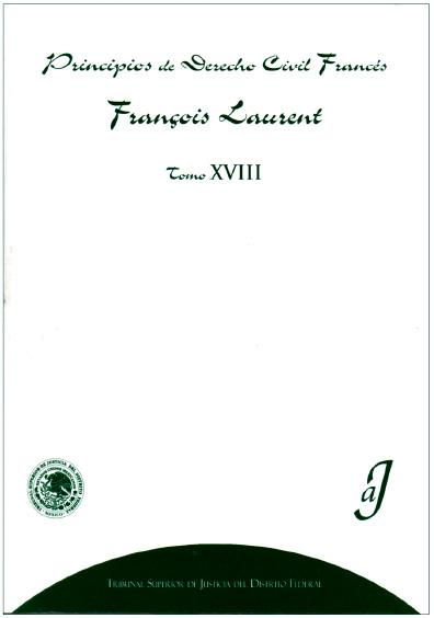 Principios de derecho civil francés, t. XVIII