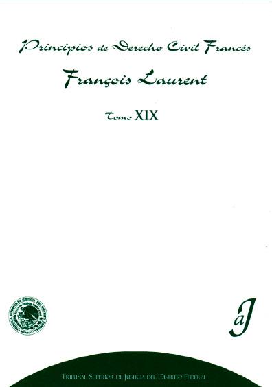 Principios de derecho civil francés, t. XIX