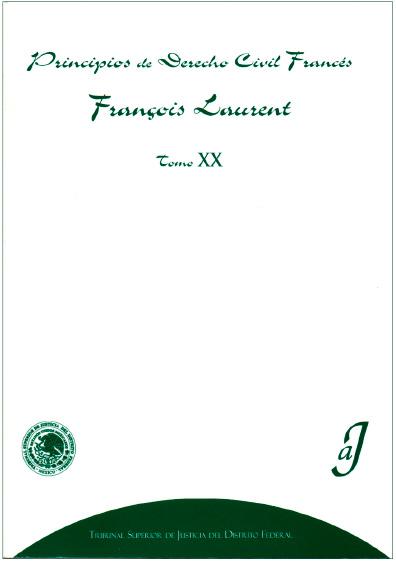 Principios de derecho civil francés, t. XX