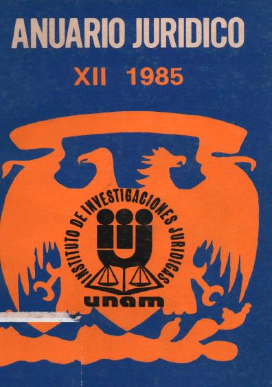Anuario Jurídico XII-1985
