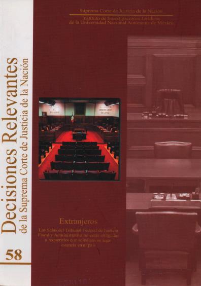 Decisiones relevantes de la Suprema Corte de Justicia de la Nación, núm. 58