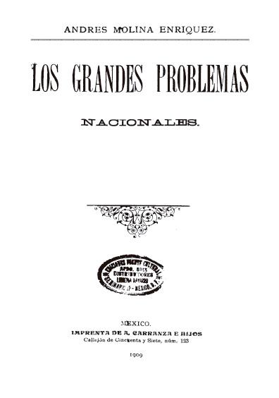 Los grandes problemas nacionales