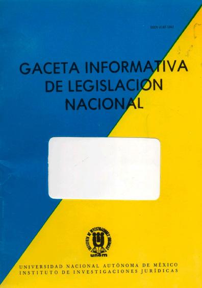 Gaceta informativa de legislación nacional, núm. 20