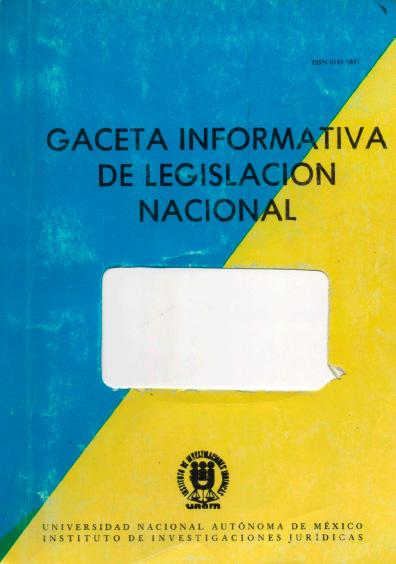 Gaceta informativa de legislación nacional, núm. 21