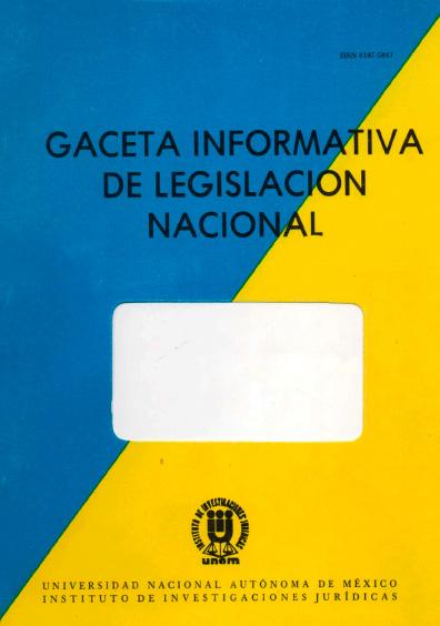 Gaceta informativa de legislación nacional, núm. 22