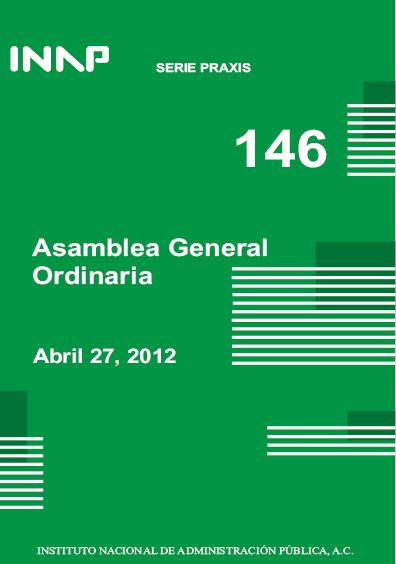 Praxis 146. Asamblea General Ordinaria, abril 27, 2012
