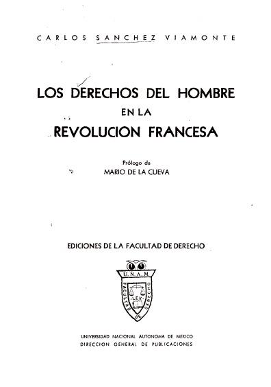 Los derechos del hombre en la Revolución francesa