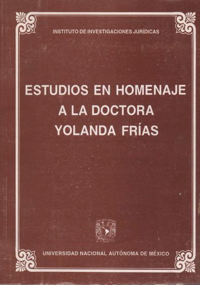 Estudios en homenaje a la doctora Yolanda Frías