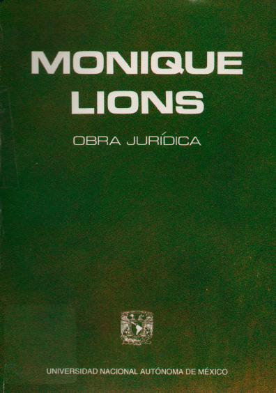 Monique Lions. Obra jurídica