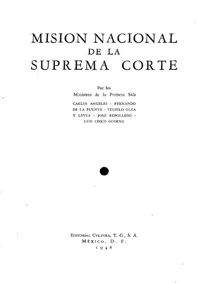 Misión nacional de la Suprema Corte. Colección Denegre-Vaught Peña