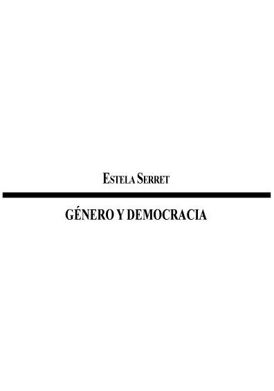 Género y democracia. Colección Instituto Federal Electoral