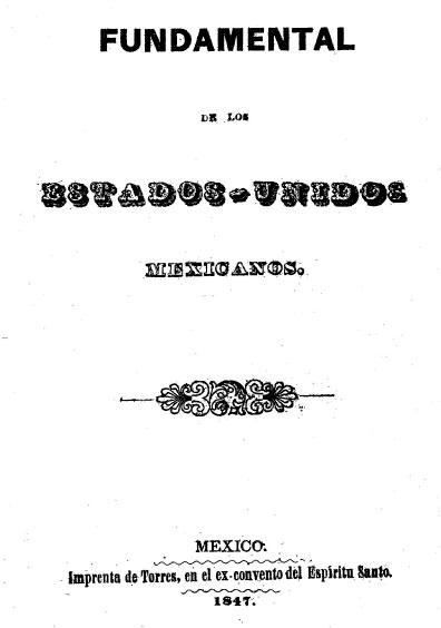 Código fundamental de los Estados Unidos Mexicanos. Colección Jorge Denegre-Vaught Peña