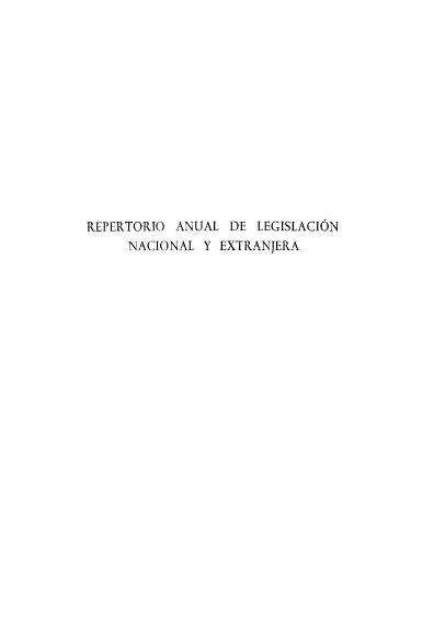 Repertorio anual de legislación nacional y extranjera, VII-1964