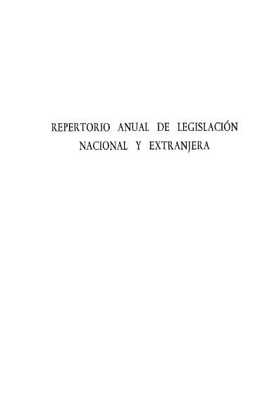 Repertorio anual de legislación nacional y extranjera, IX-1966