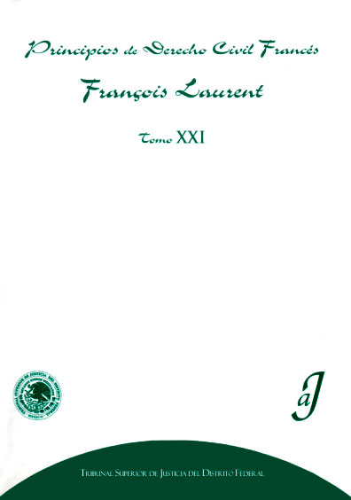 Principios de derecho civil francés, tomo XXI