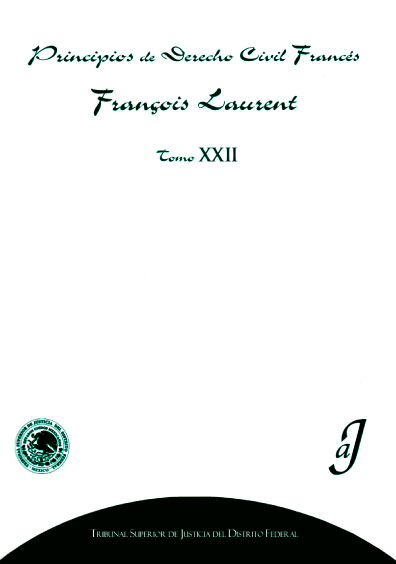 Principios de derecho civil francés, tomo XXII