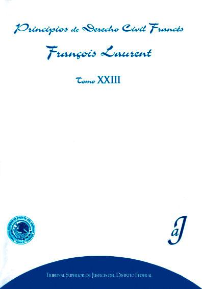Principios de derecho civil francés, tomo XXIII