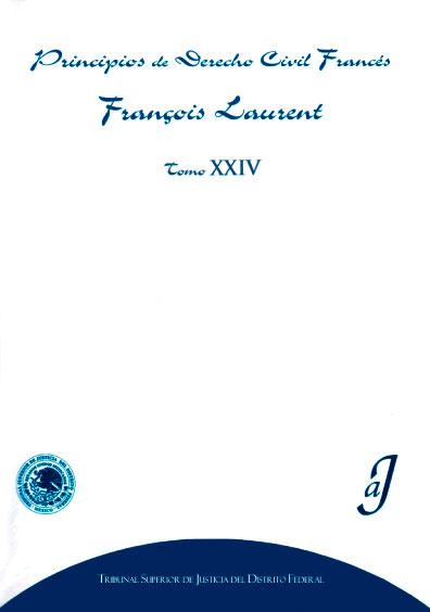Principios de derecho civil francés, tomo XXIV