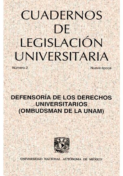 Cuadernos de Legislación Universitaria, nueva época, número 2
