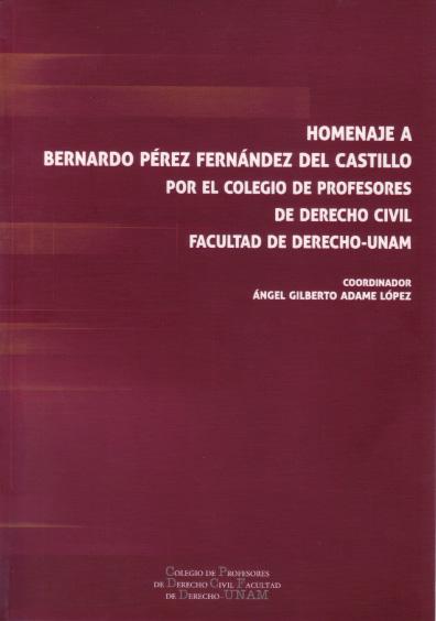 Homenaje al doctor Bernardo Pérez Fernández del Castillo