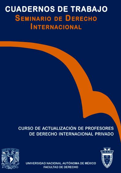 Curso de actualización de profesores de derecho internacional privado. Seminario de Derecho Internacional, Facultad de Derecho