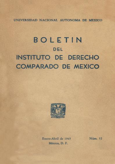 <b>Boletín del Instituto de Derecho Comparado de México, núm. 52 </b>