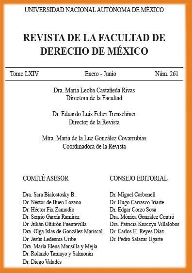 <i><b>Revista de la Facultad de Derecho de México, tomo LXIV, número 261, enero-junio</b></i>