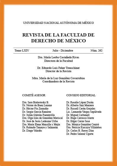<i><b>Revista de la Facultad de Derecho de México, tomo LXIV, número 262, julio-diciembre</i></b>