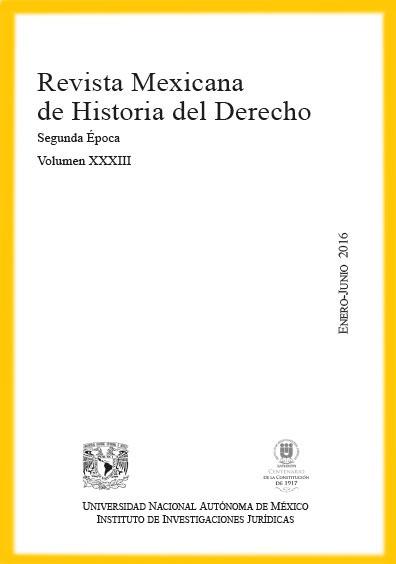<i><b>Revista Mexicana de Historia del Derecho, vol. XXXIII, enero-junio de 2016</i></b>