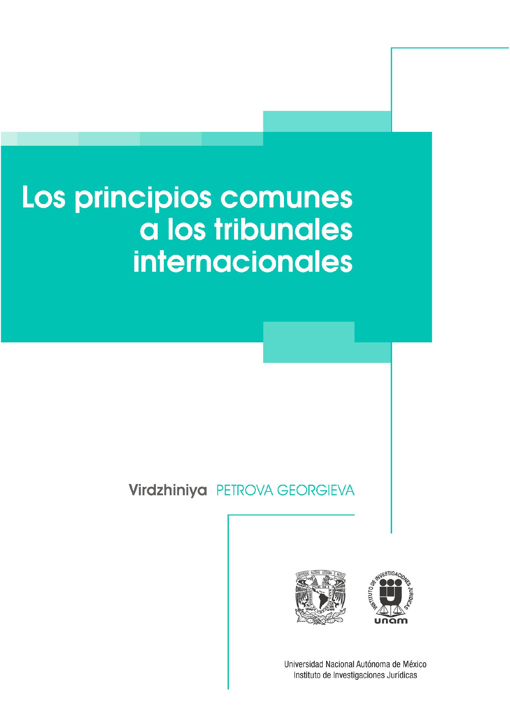 Los principios comunes a los tribunales internacionales